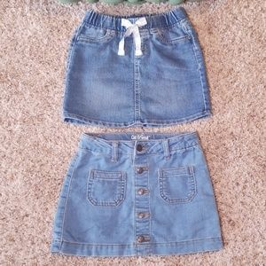 Like New Girls Jean Skirts Size XS and 5 Kids